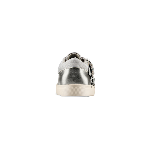 Sneakers con dettagli floreali bata, argento, 541-2166 - 15