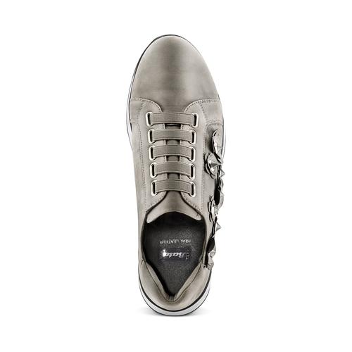 Sneakers basse senza lacci bata, grigio, 549-2165 - 17
