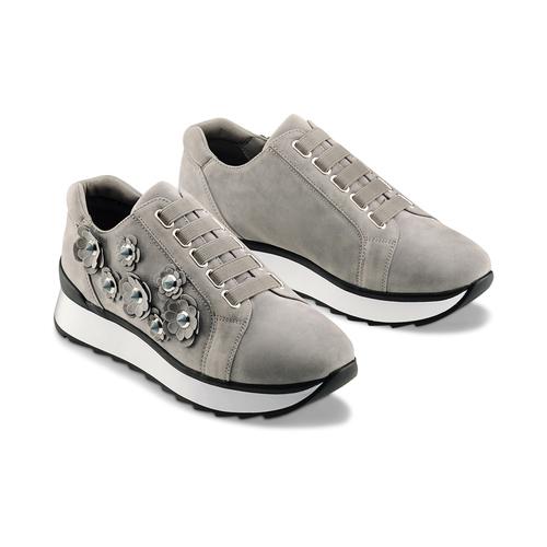 Sneakers basse senza lacci bata, grigio, 549-2165 - 16