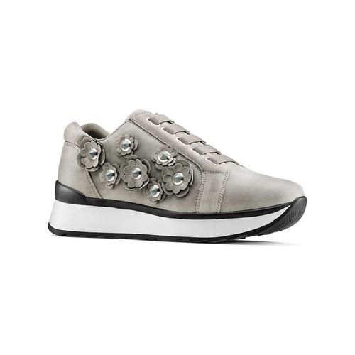 Sneakers basse senza lacci bata, grigio, 549-2165 - 13