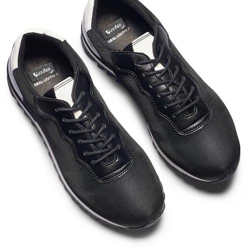 Sneakers in tessuto elasticizzato bata, nero, 549-6212 - 26