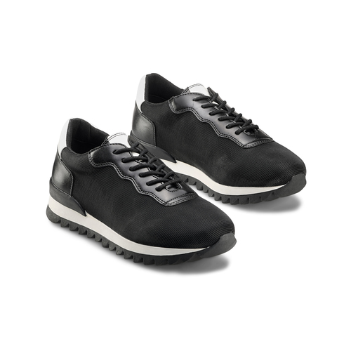 Sneakers in tessuto elasticizzato bata, nero, 549-6212 - 16