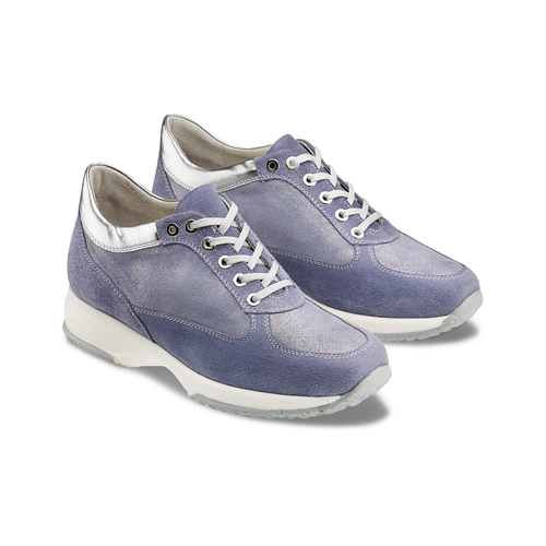 Sneakers casual con lacci bata, blu, 523-9306 - 16