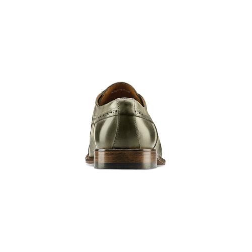 Stringate verdi in pelle bata-the-shoemaker, 824-2348 - 16