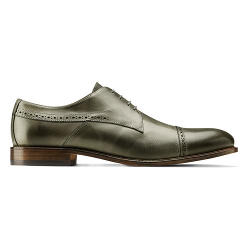 Stringate verdi in pelle bata-the-shoemaker, 824-2348 - 26