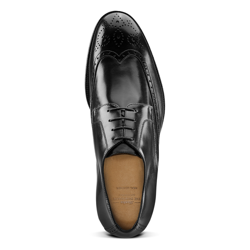 Stringate in pelle con dettagli Brogue bata-the-shoemaker, nero, 824-6342 - 15