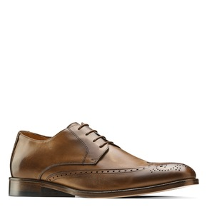Stringate con dettagli Brogue bata-the-shoemaker, marrone, 824-4342 - 13