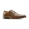 Stringate con dettagli Brogue bata-the-shoemaker, marrone, 824-4342 - 13