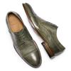 Stringate verdi in pelle bata-the-shoemaker, 824-2348 - 19