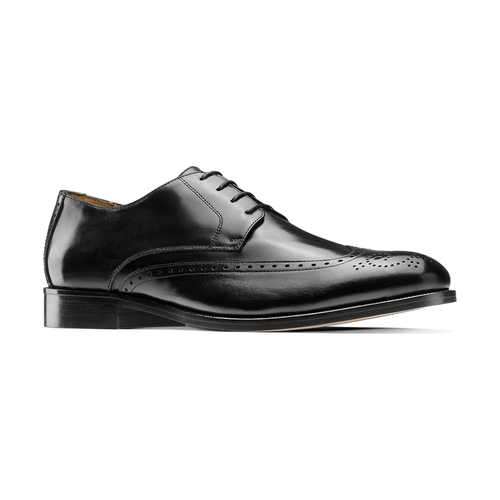 Stringate in pelle con dettagli Brogue bata-the-shoemaker, nero, 824-6342 - 13