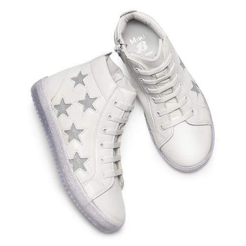 Sneakers alte con stelle mini-b, bianco, 321-1322 - 19