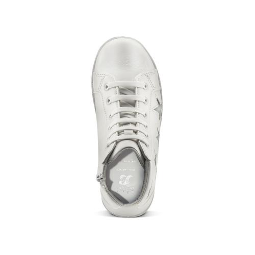Sneakers alte con stelle mini-b, bianco, 321-1322 - 15