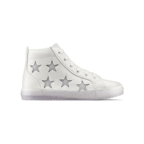 Sneakers alte con stelle mini-b, bianco, 321-1322 - 26