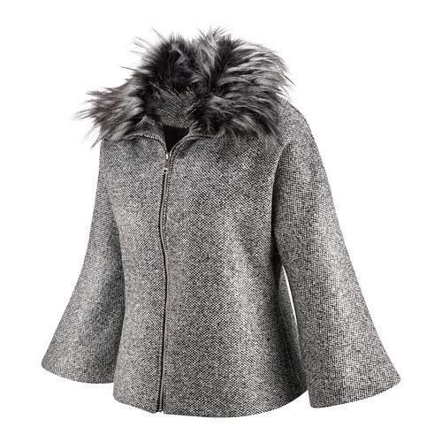 Cappotto con manica a tre quarti bata, grigio, 979-2239 - 16
