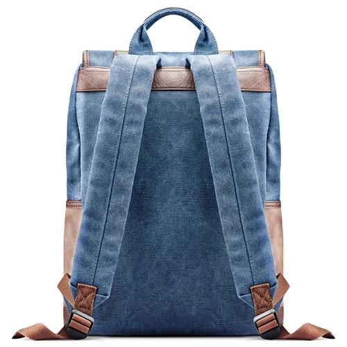 Zaino bicolore da uomo atletico, blu, 969-9201 - 26