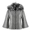 Cappotto con manica a tre quarti bata, grigio, 979-2239 - 13