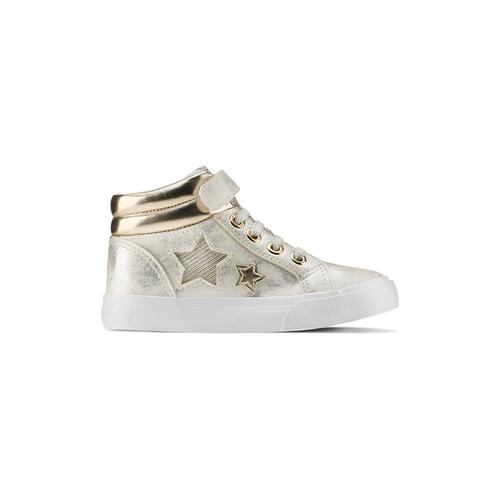 Sneakers alte con stelle mini-b, oro, 221-1217 - 26