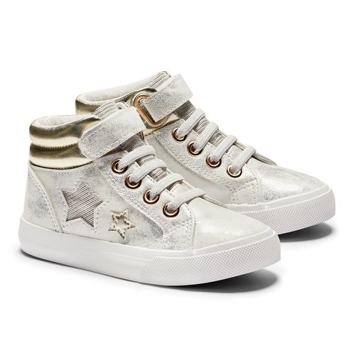 Sneakers alte con stelle mini-b, oro, 221-1217 - 19