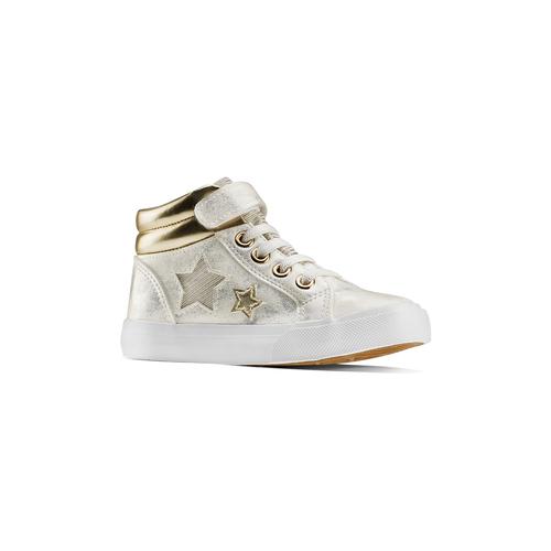 Sneakers alte con stelle mini-b, oro, 221-1217 - 13