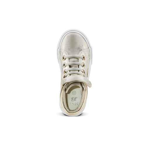 Sneakers alte con stelle mini-b, oro, 221-1217 - 15