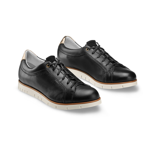Sneakers Flexible in pelle flexible, nero, 524-6199 - 16