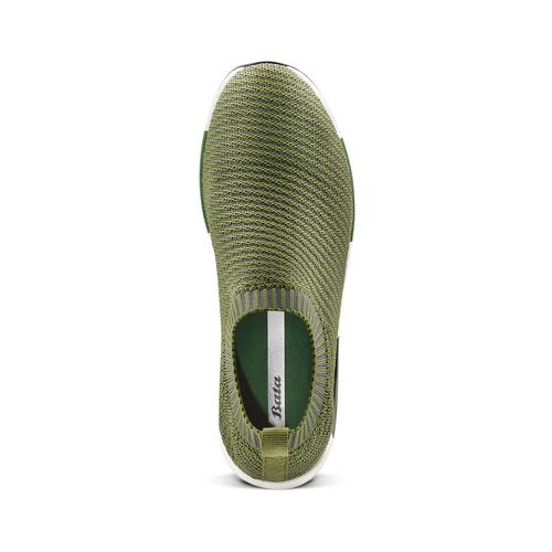 Sneakers Platform bata, verde, 539-7129 - 17