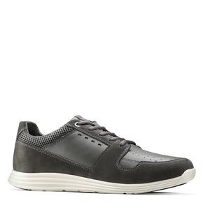 Sneakers Light in pelle bata-light, grigio, 844-2161 - 13