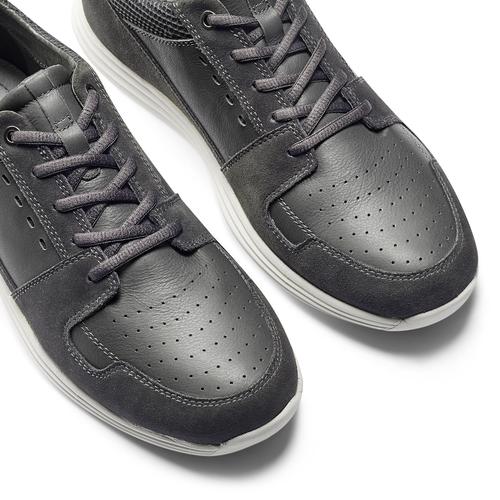 Sneakers Light in pelle bata-light, grigio, 844-2161 - 19