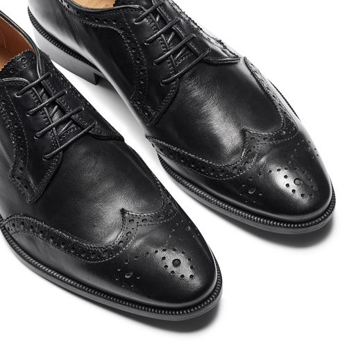 Derby da uomo in pelle bata-the-shoemaker, nero, 824-6335 - 19