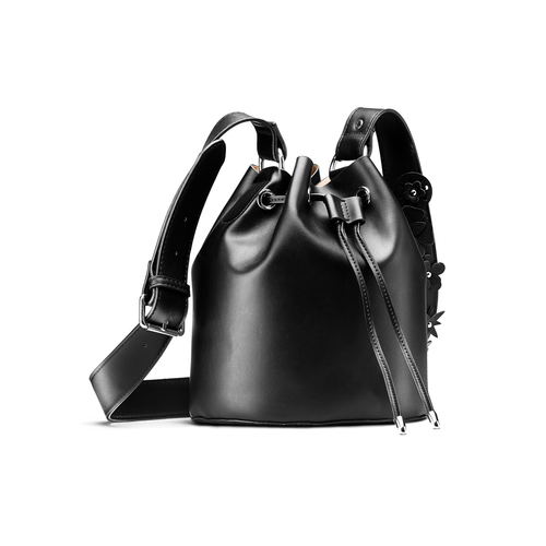 Borsa a secchiello da donna bata, nero, 961-6230 - 13