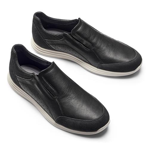 Slip-on in pelle bata-light, nero, 834-6162 - 19