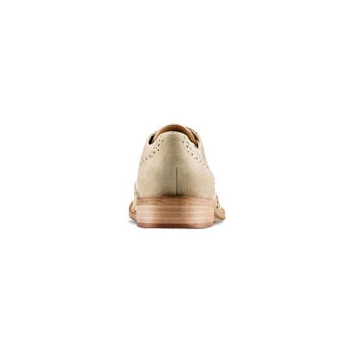 Stringate in suede da donna bata, beige, 523-7482 - 15