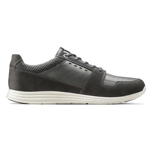 Sneakers Light in pelle bata-light, grigio, 844-2161 - 26