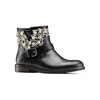 Ankle boots con perle bata, nero, 591-6783 - 13