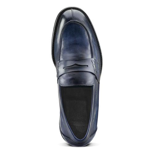 Mocassino in vera pelle da uomo bata-the-shoemaker, blu, 814-9129 - 15