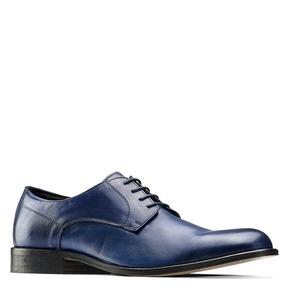 Derby da uomo in vera pelle bata-the-shoemaker, blu, 824-9332 - 13