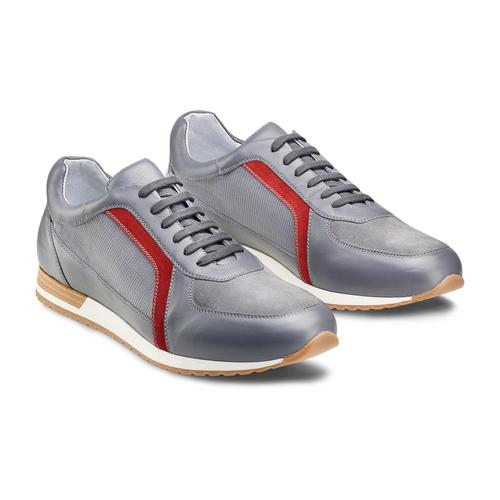 Sneakers in pelle da uomo bata, grigio, 844-2142 - 16
