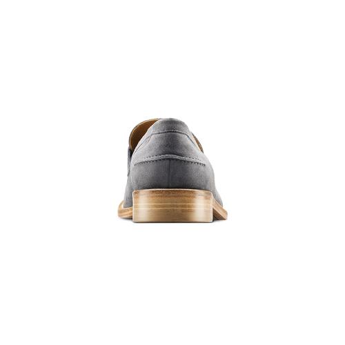 Mocassini in pelle scamosciata bata-the-shoemaker, grigio, 813-2116 - 16