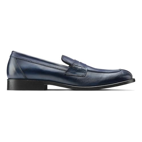 Mocassino in vera pelle da uomo bata-the-shoemaker, blu, 814-9129 - 26