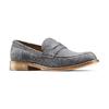 Mocassini in pelle scamosciata bata-the-shoemaker, grigio, 813-2116 - 13