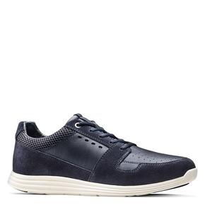 Sneakers in pelle bata-light, blu, 844-9161 - 13