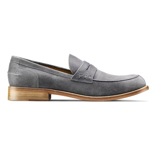 Mocassini in pelle scamosciata bata-the-shoemaker, grigio, 813-2116 - 26