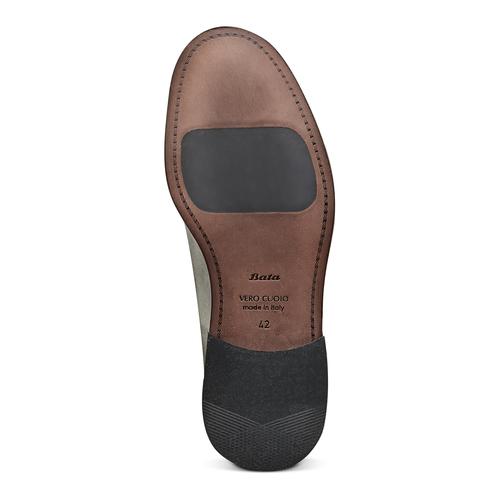 Derby in vera pelle bata-the-shoemaker, grigio, 824-2332 - 19