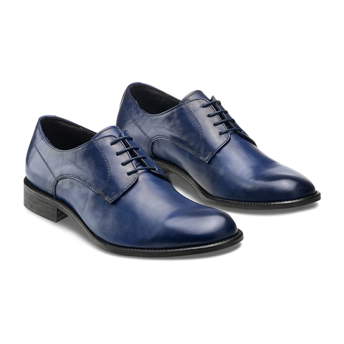 Derby da uomo in vera pelle bata-the-shoemaker, blu, 824-9332 - 16