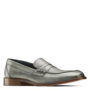 Mocassini in vera pelle bata-the-shoemaker, grigio, 814-2129 - 13
