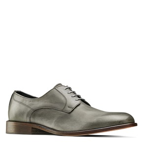 Derby in vera pelle bata-the-shoemaker, grigio, 824-2332 - 13