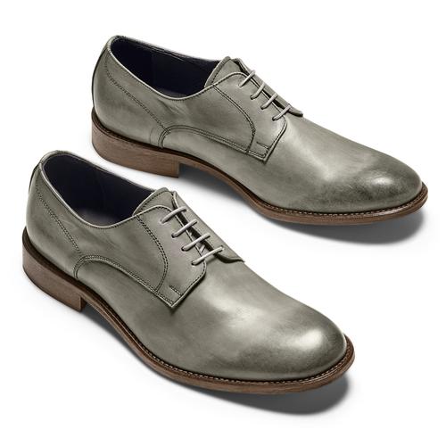 Derby in vera pelle bata-the-shoemaker, grigio, 824-2332 - 26