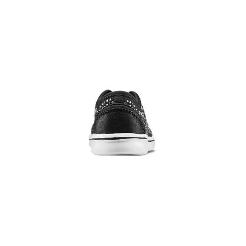 Sneakers da bambina senza lacci mini-b, nero, 329-6343 - 15