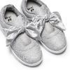 Sneakers con fiocco mini-b, argento, 329-1341 - 26