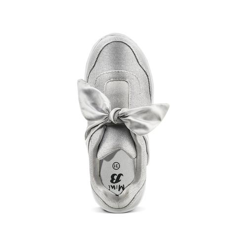 Sneakers con fiocco mini-b, argento, 329-1341 - 17